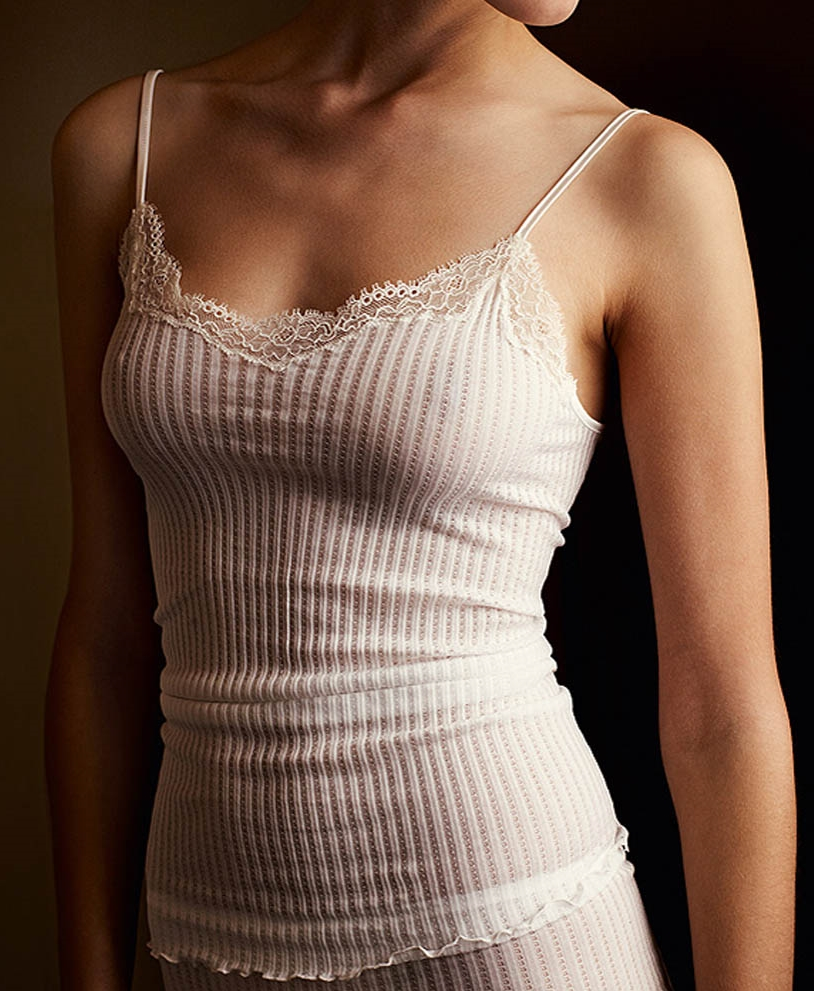 Zimmerli Prive Cami available in ecru, black or blush