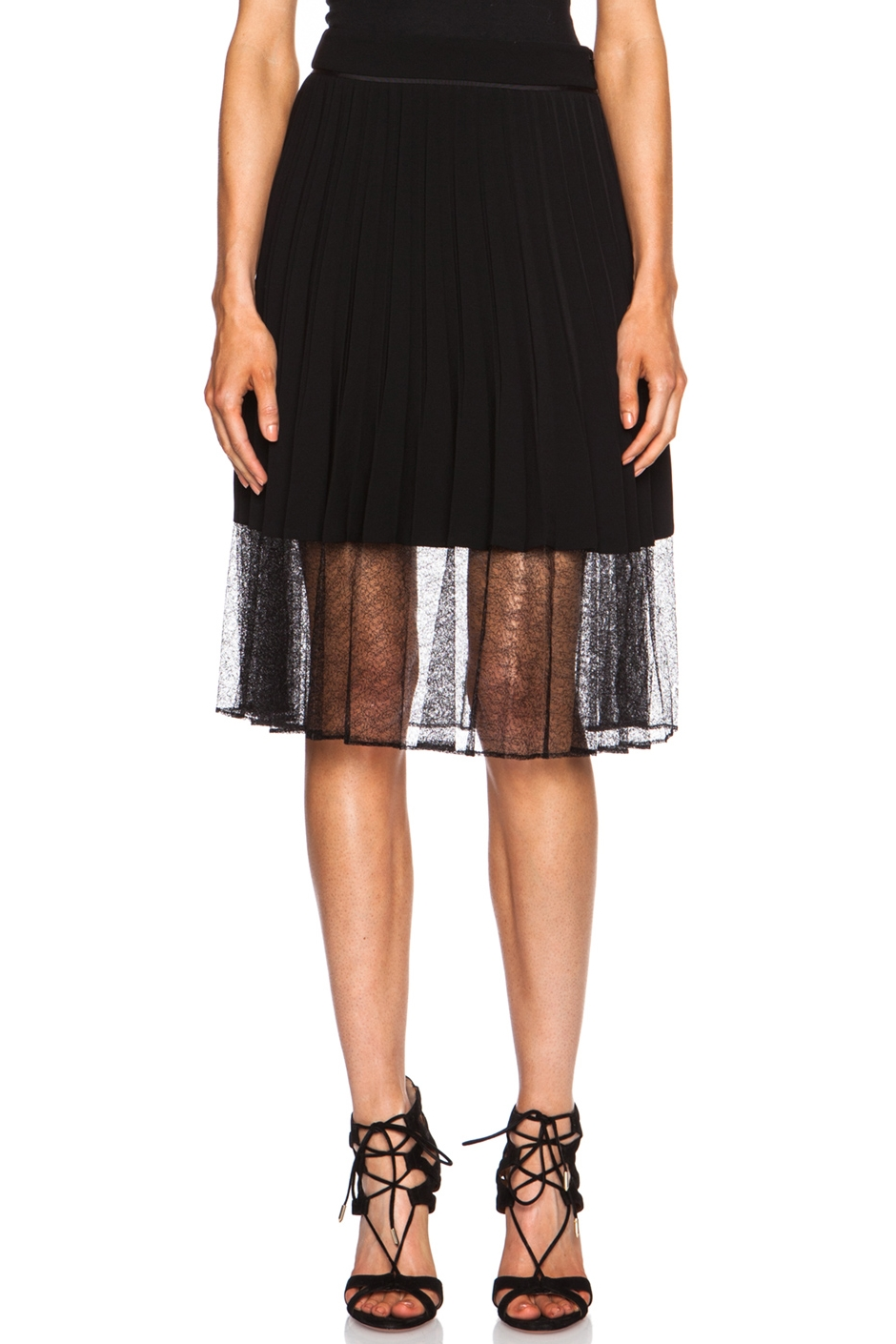 Rag & Bone Pleated Lace Skirt