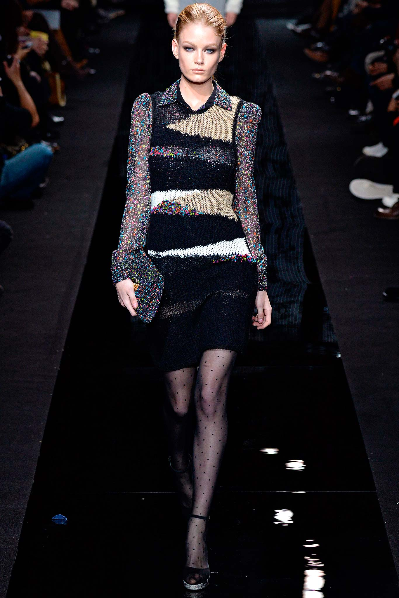 DVF Sweater Dress Fall 2015