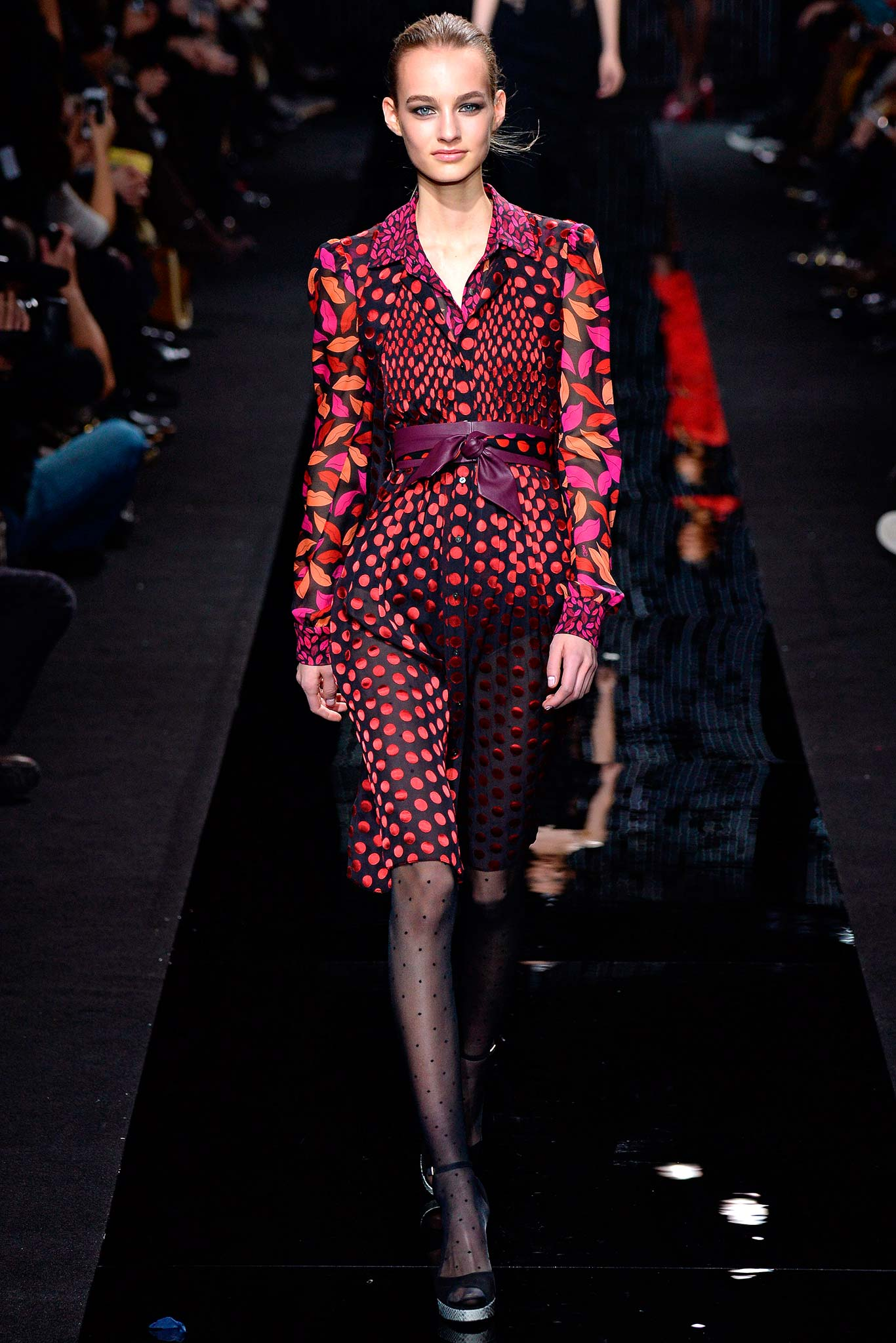 DVF Long Sleeve Wrap Dress Fall 2015