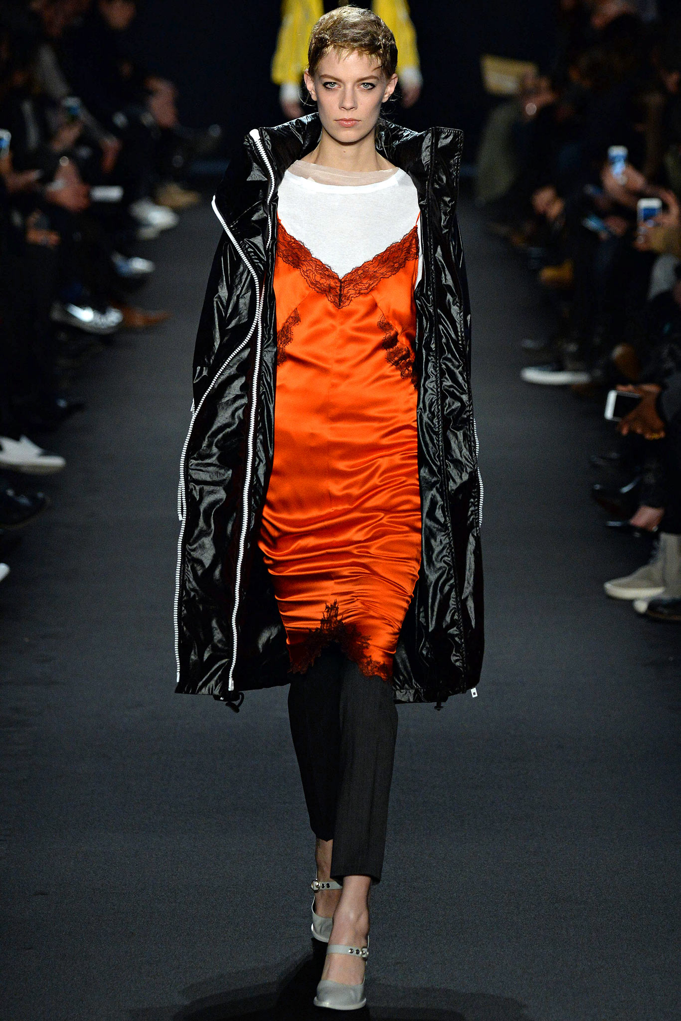 Rag & Bone Orange Dress Runway Fall 2015