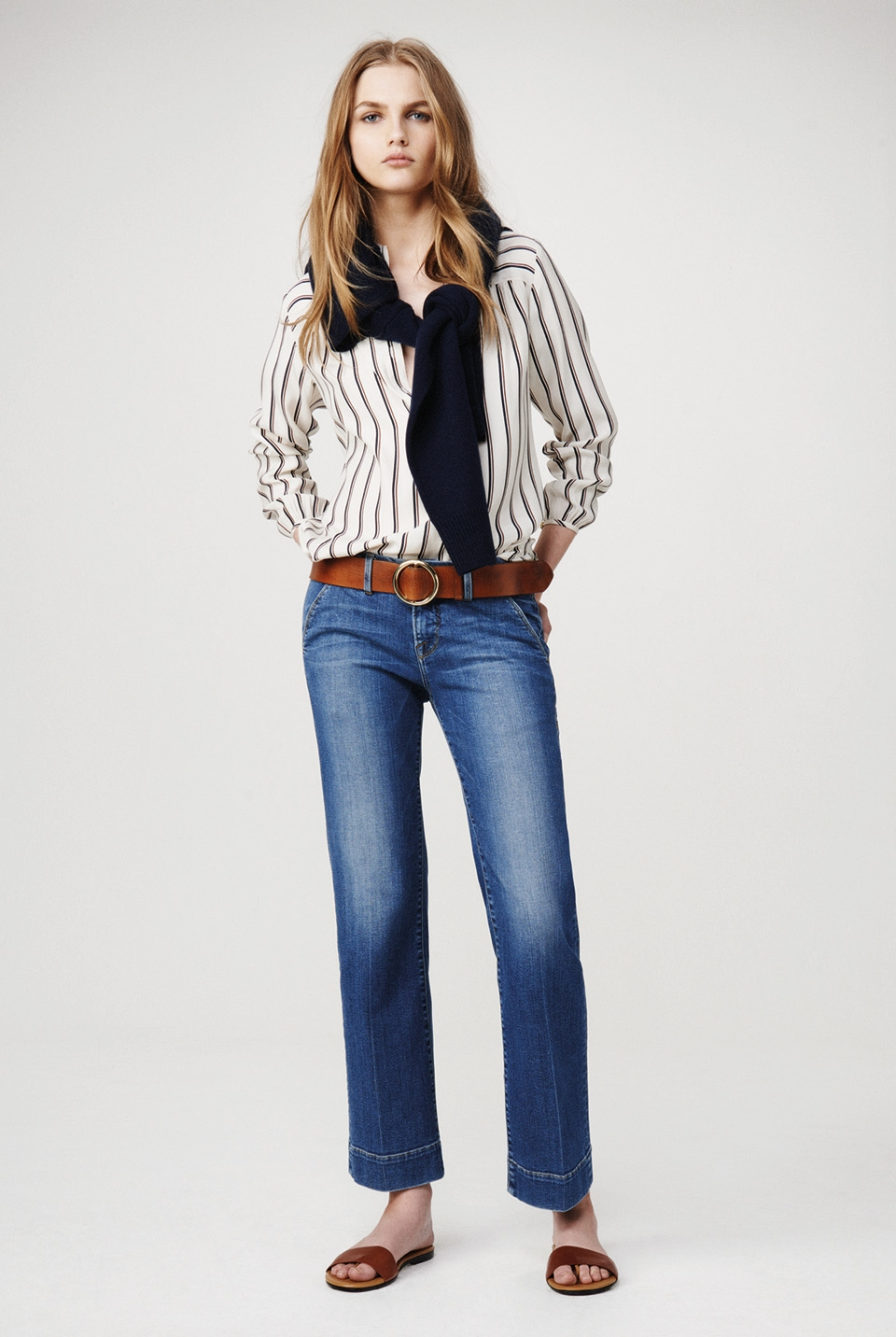Frame Denim Striped Shirt Fall 2015