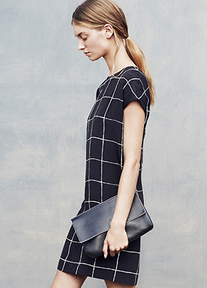 Vince Windowpane Dress Spring 2015