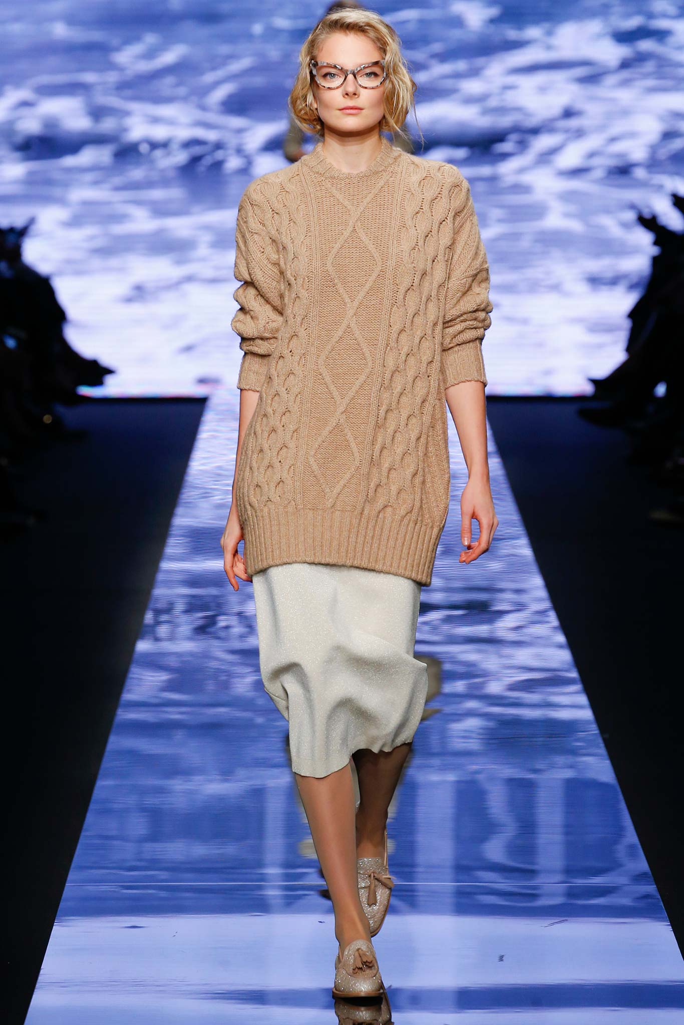 Max Mara Cable Knit Sweater Fall 2015