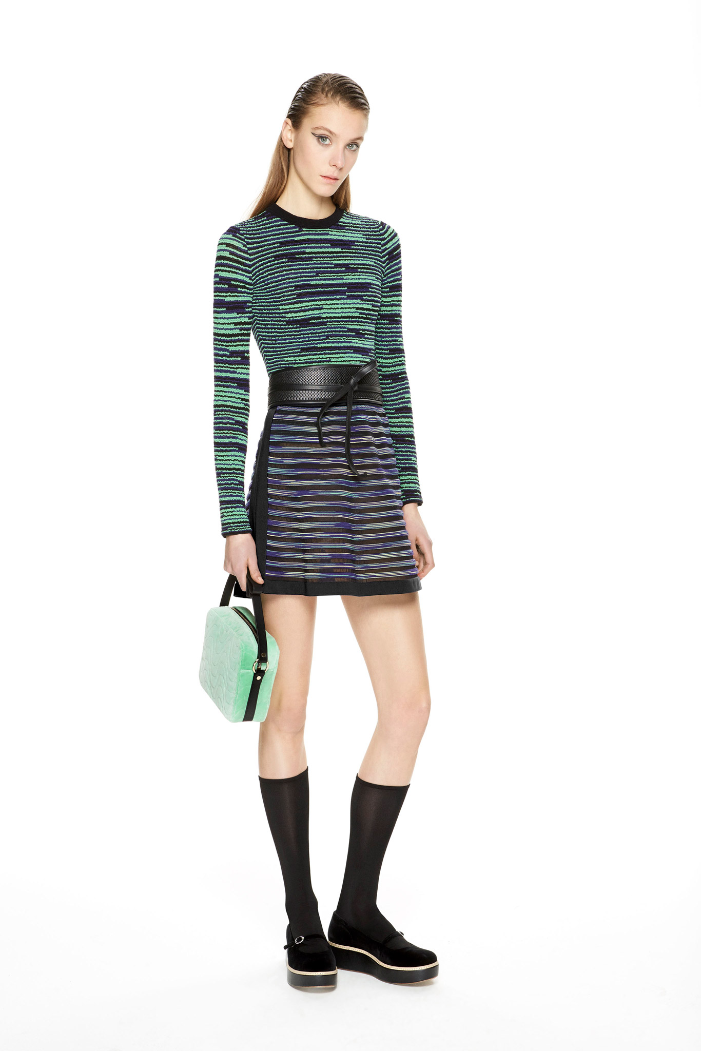 M Missoni Dress with Obi Belt Fall 2015