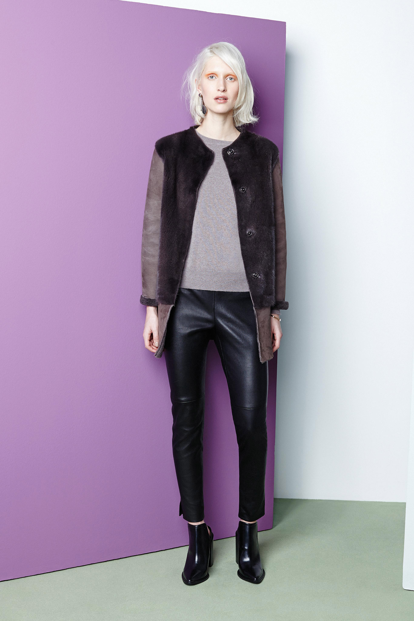 Piazza Sempione Leather Pants Fall 2015