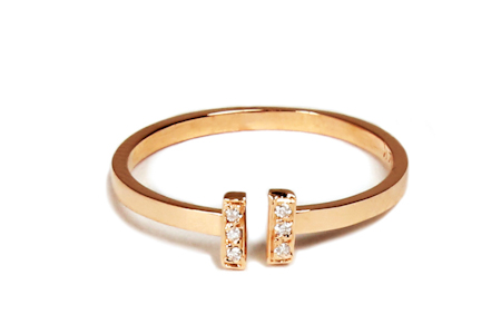 Loren Stewart Gold Ring with Diamonds
