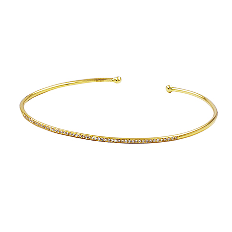 Maya J Thin Cuff Diamond Bangle
