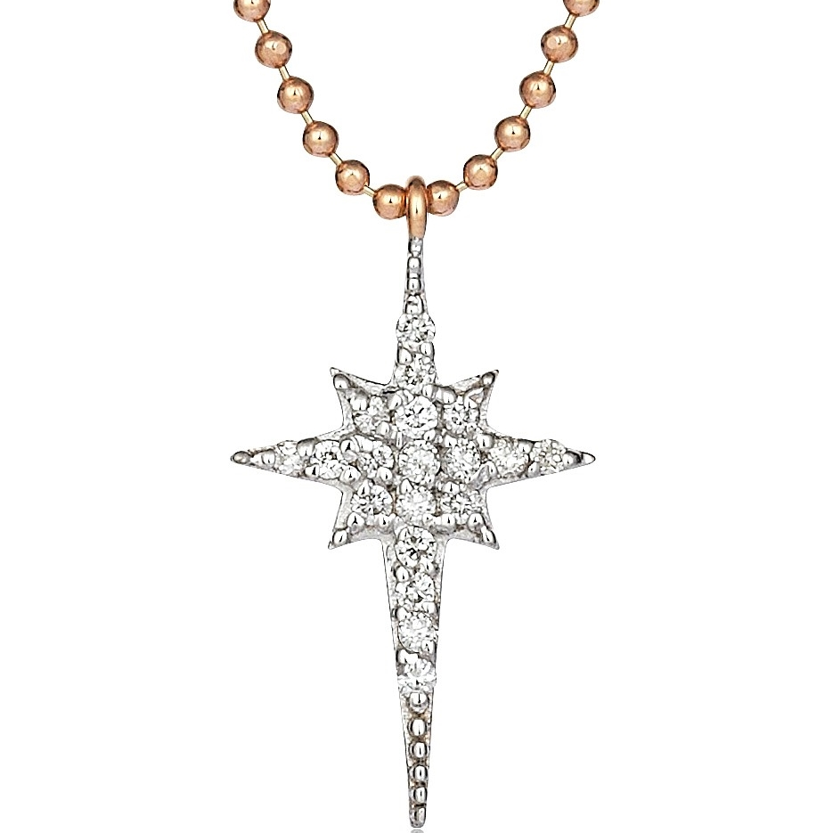 Kismet by Milka Mini Star Necklace with Diamonds