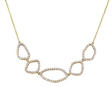 Maya J Geometric Diamond Necklace