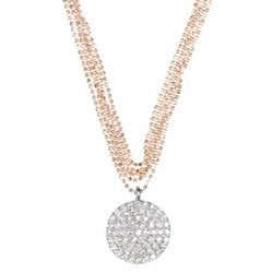 Kismet by Milka 5 Chain Necklace with Diamond Disk