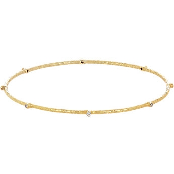 Sara Weinstock Bezeled Diamond Bangle