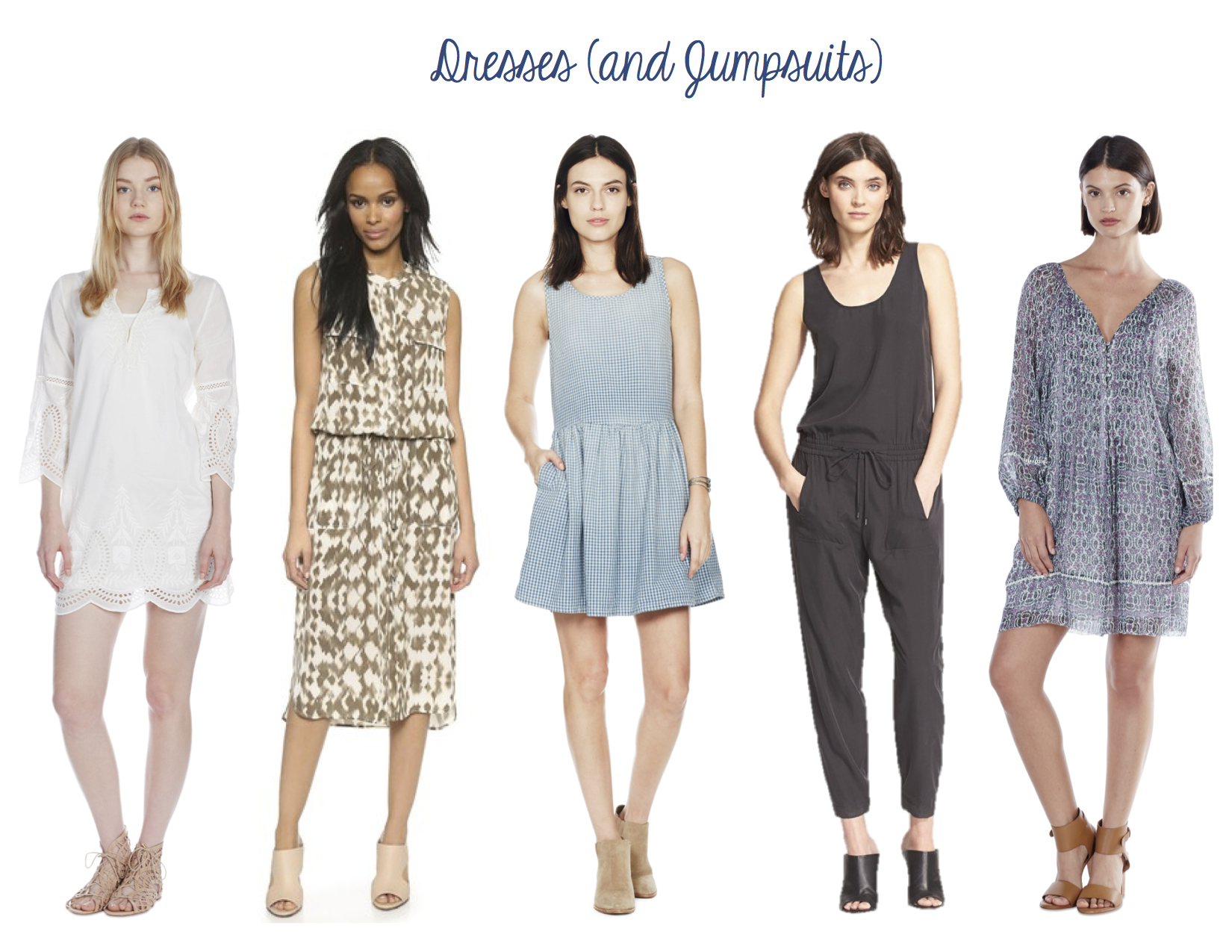 Joie Marne Dress, Vince Ikat Maxi Dress, Current/Elliot Bay Dress, Vince Sleeveless Soft Twill Jumpsuit, Joie Sevigny Dress