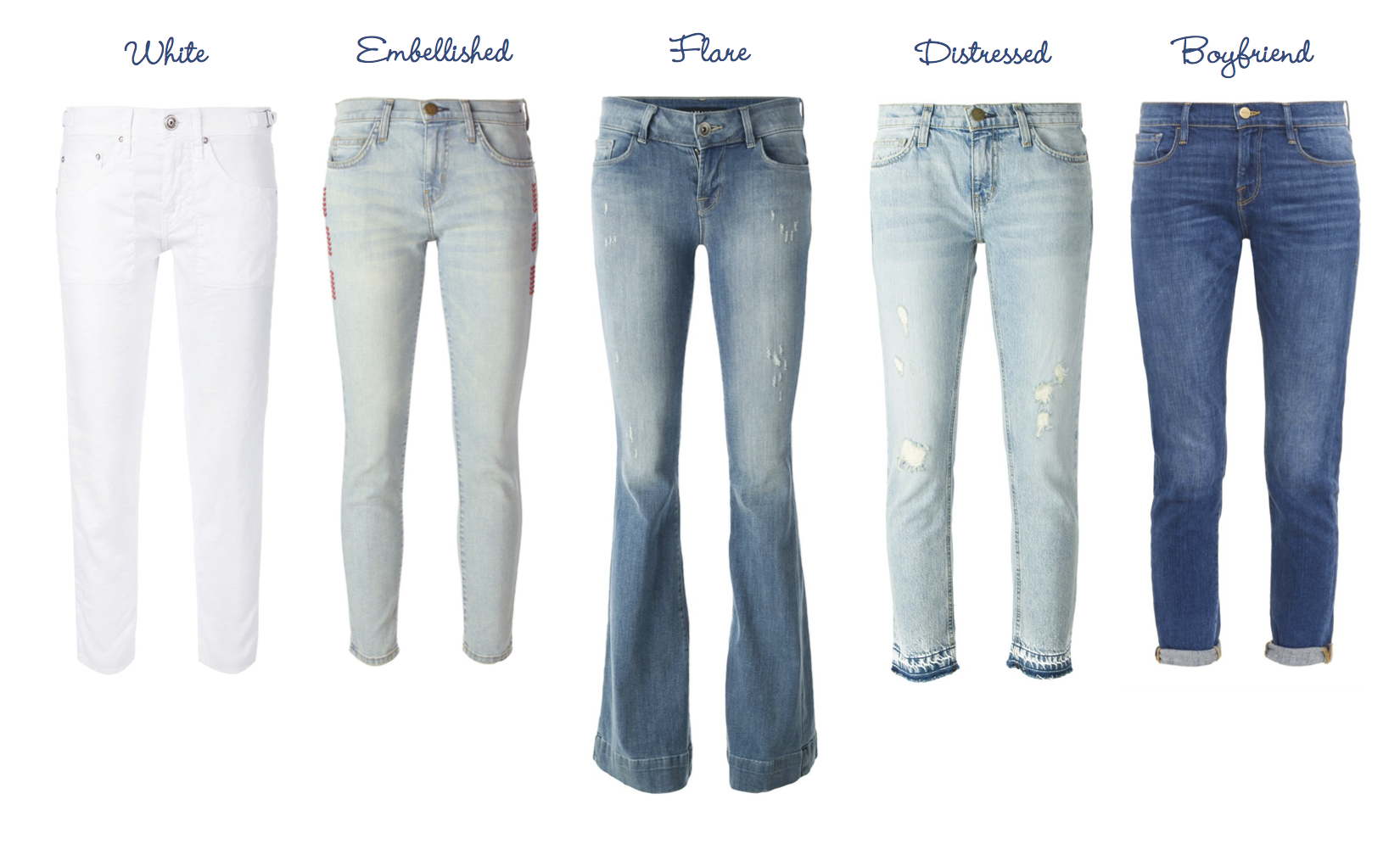 Strom Brand Painter Pant, Current/Elliott Embroidered Stiletto, J Brand Remy High-Rise Slim Boot, Current/Elliott Cropped Straight, Frame Denim Le Garçon