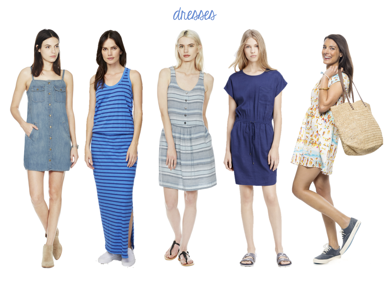 Current/Elliott Strappy Dress. Sundry Stripe Maxi Dress, Current/Elliott Indio Dress, Vince Stretch Linen Drawstring Dress, G. Kero Adele Dress