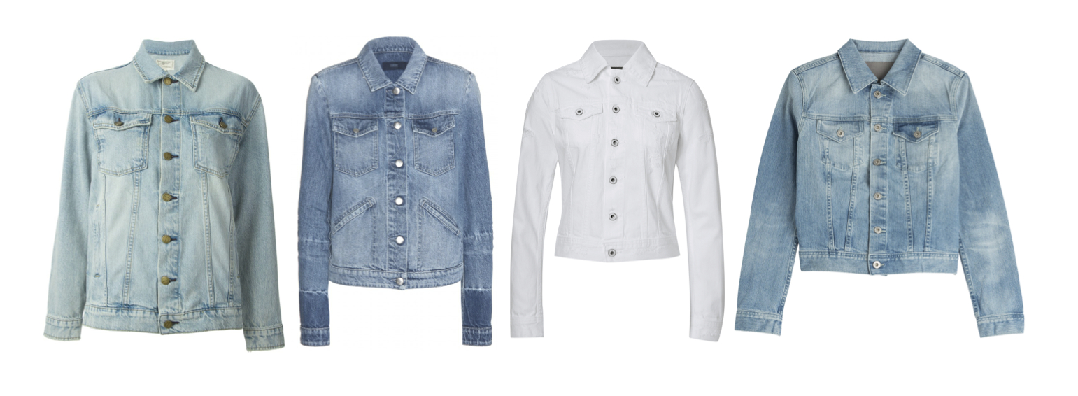 Current/Elliott Trucker Jacket, Closed City Jacket, AG Jeans Distressed Denim Jacket and Robyn Jacket