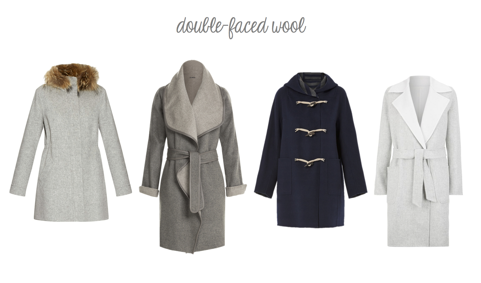 double-faced wool coats for fall