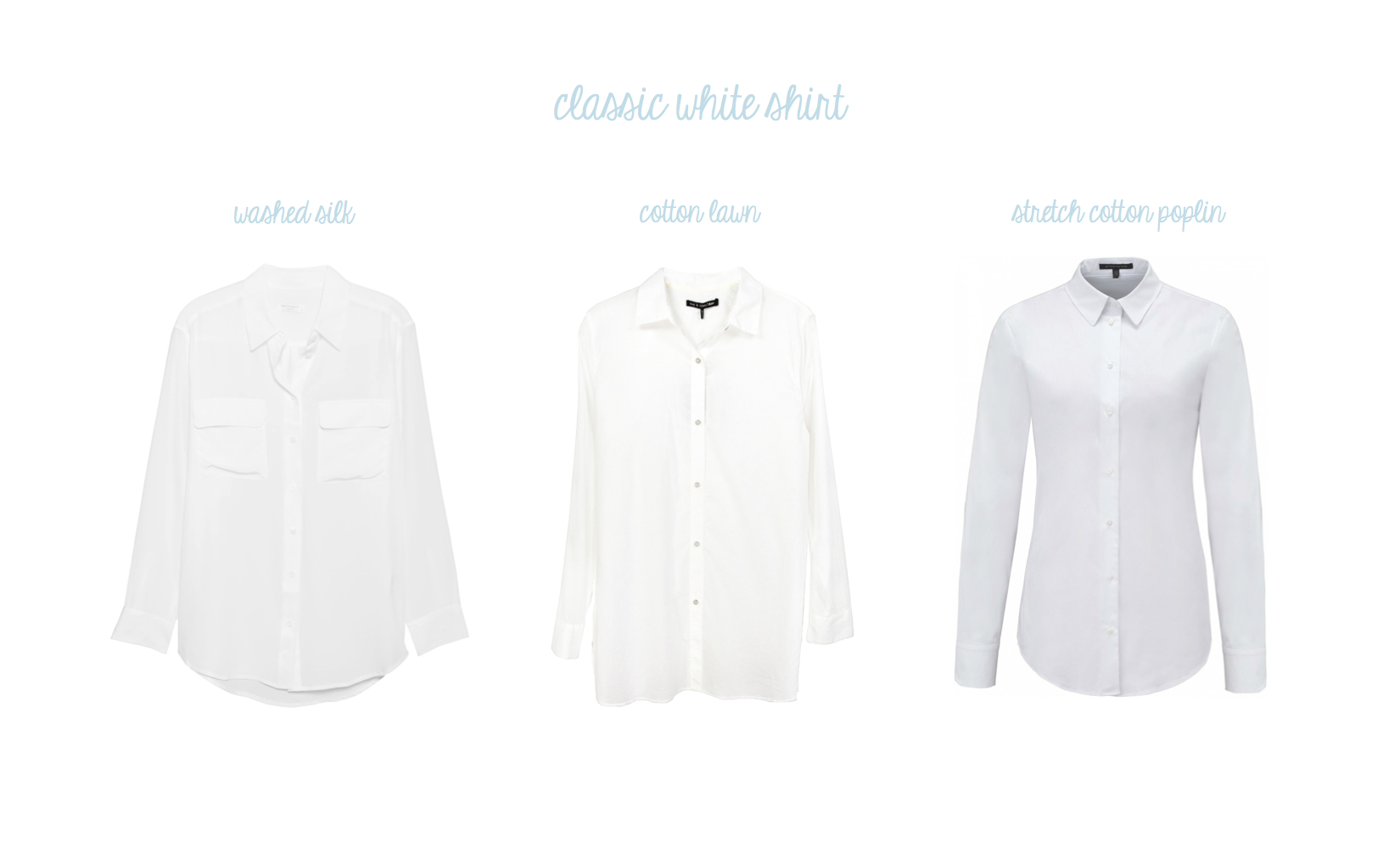 Equipment Signature Shirt, Rag & Bone Beau Shirt and Strenesse Stretch Shirt