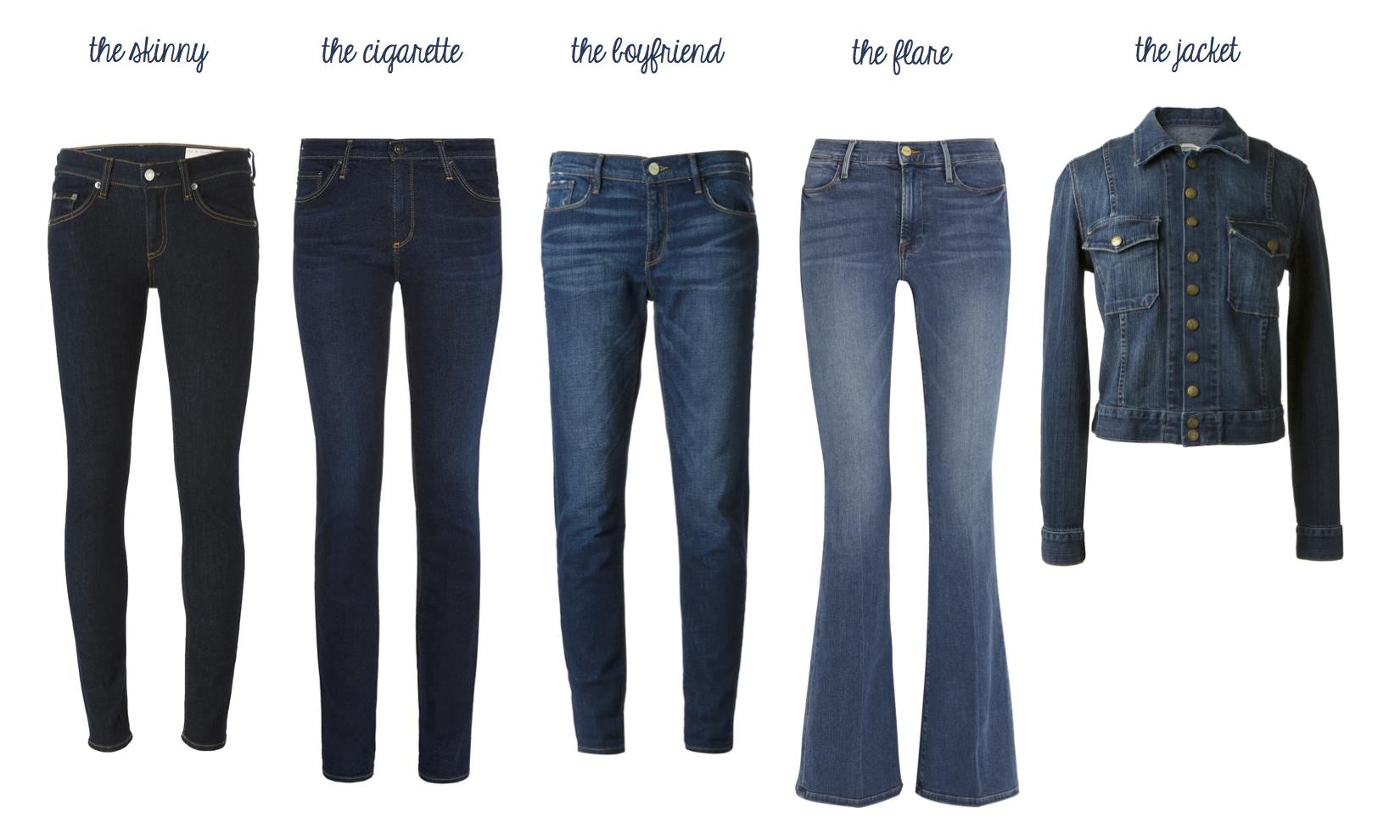 "Rag & Bone Skinny Jean, AG Jeans Harper Straight Leg Jeans, Frame Le Garçon, Frame Le High Flare and Current/Elliott ""The Snap"" Jacket"