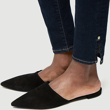 Ankle Details - Elevated details to dress up your dark denim.Frame Le Skinny de Jeanne, $215