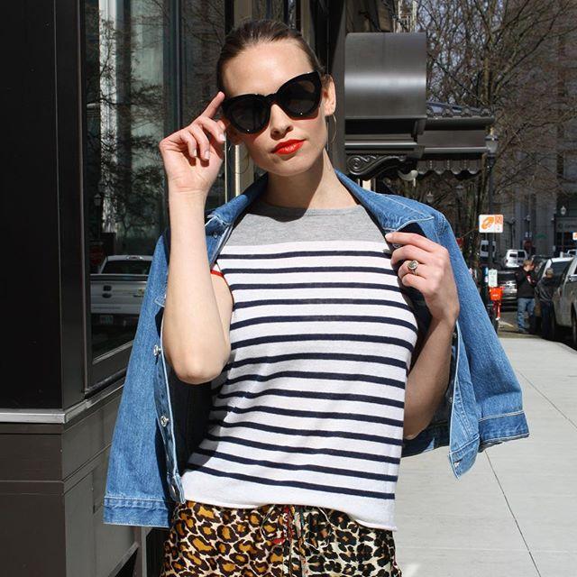 Hey Sunshine, we sure missed you! ☀️❤️ Shop spring stripes from @majesticfilaturesusa today! #newarrivals #springstyle