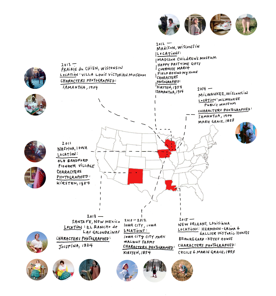 traveling to 10 locations in 4 states