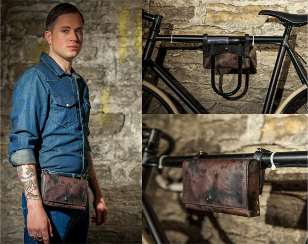 Biker Hip Bag in Inkblot