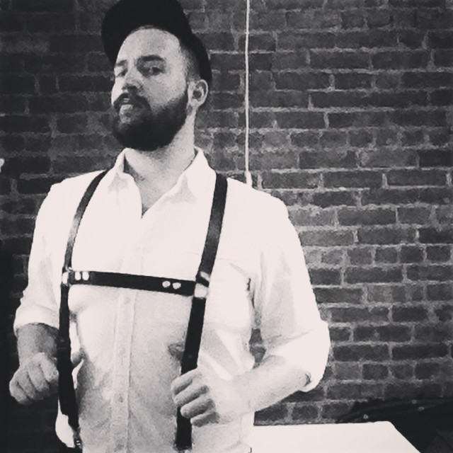 Tyler actually ordered the first pair of Bondage Braces as a custom project.  He got so many compliments on them, I decided to start offering them as a staple Black Spoke Leather Co. product.  Here they are with the lederhosen-inspired removable chest strap.  They also come with an O-ring chest strap, so you get 3 looks in 1.