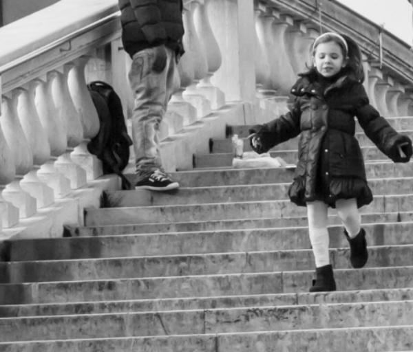 Girl on Scalzi Bridge,Venice. Photo: Amy Bown