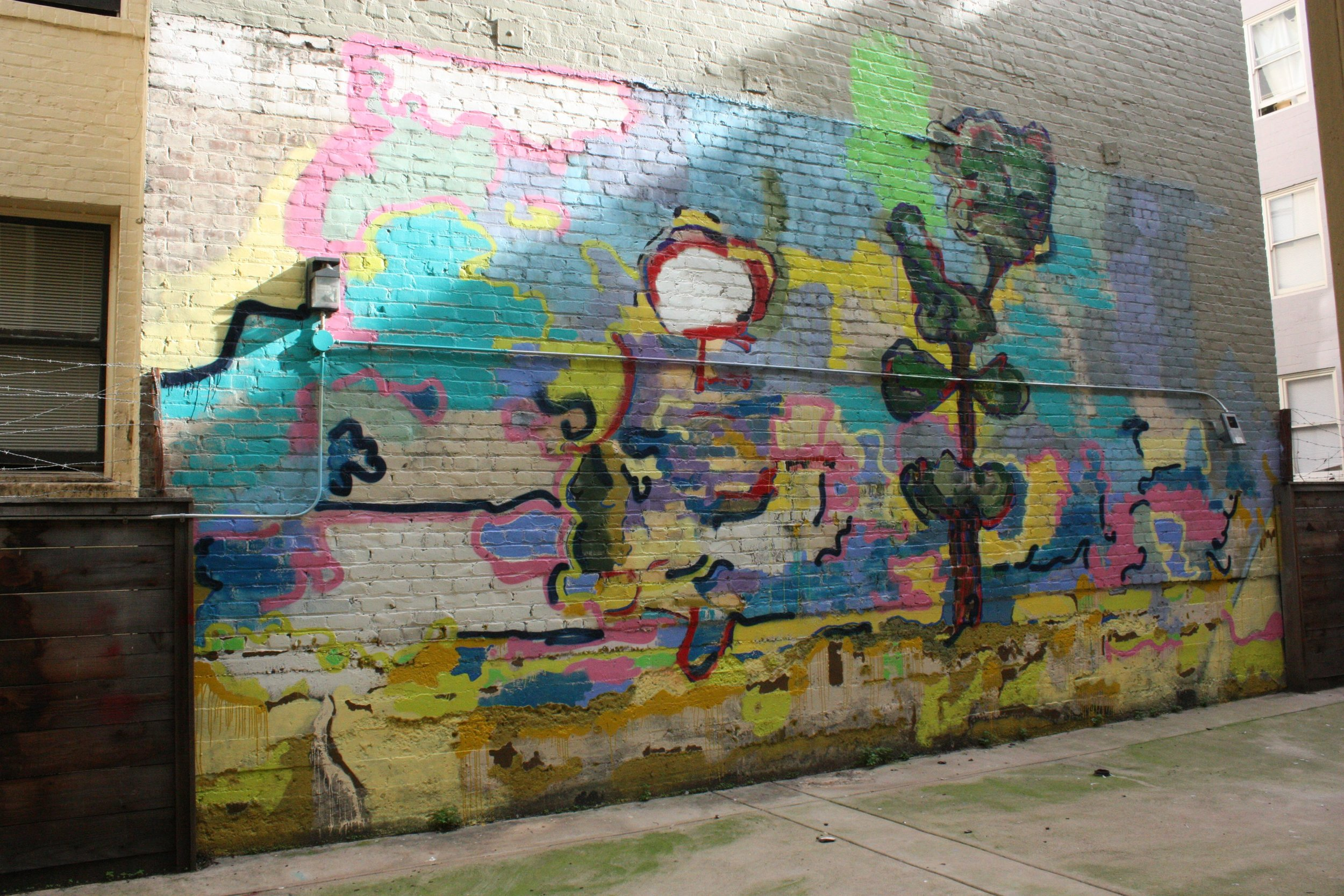 Untitled (Hyde Street Courtyard Mural), 2014