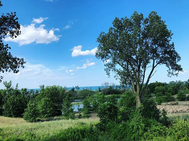 Nearly 20 services in 2 days! Everyone is beautiful. I'm tired. Goodnight. 😘😴 ✨ No pics from today except this - 3rd time at this Airbnb and the views never get old! #weddingviews #millerbeach #marquettepark #garyindiana #lakemichigan