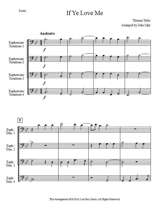 If Ye Love Me-Four Euphoniums or Trombones-Score Sample.jpg