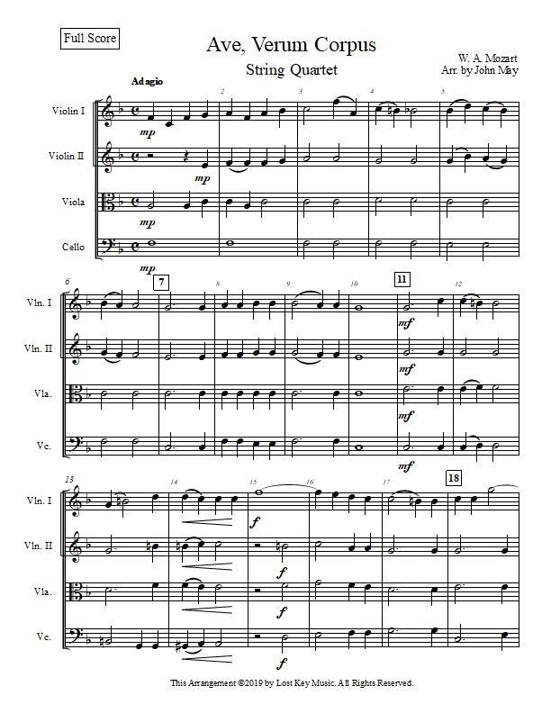 Ave, Verum Corpus-String Quartet-Score Sample.jpg