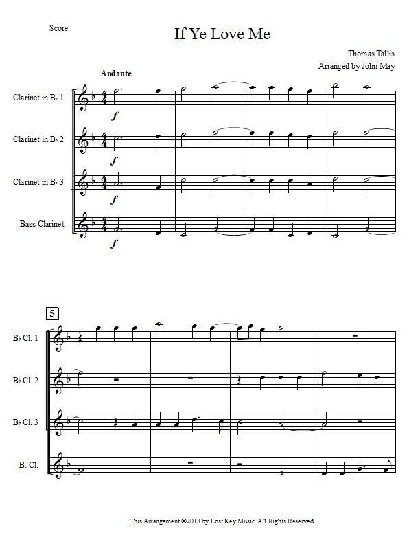 If Ye Love Me-Three Clarinets and One Bass Clarinet-Score.jpg