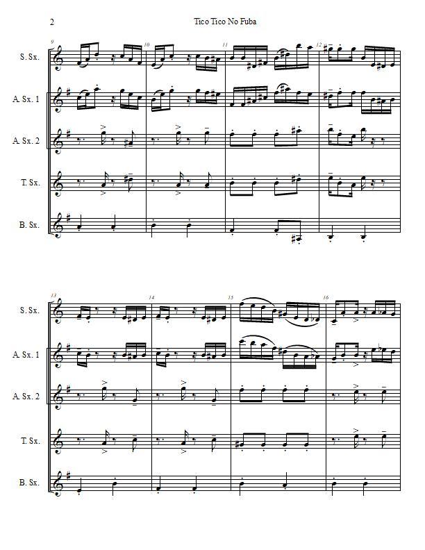 Tico Tico No Fuba Saxophone Quintet-Score Sample p. 2.jpg