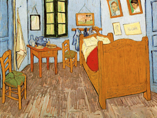 Van Gogh's room at Arles,  1889. Vincent Van Gogh
