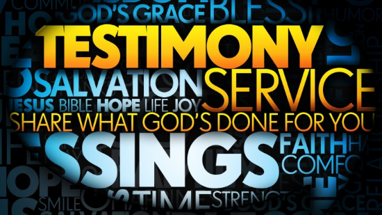 CLICK:   Testimonies