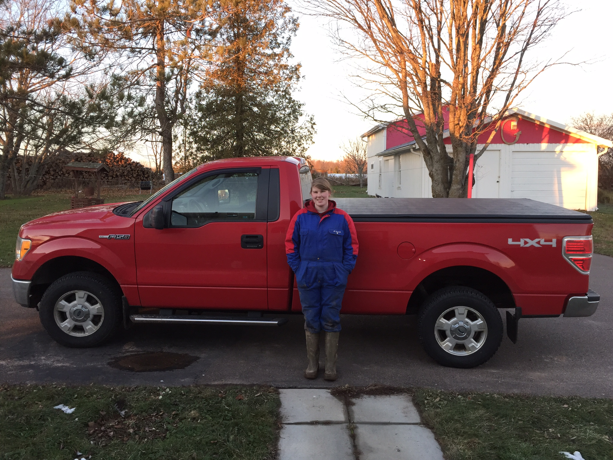 Just look for Susan in the red Ford F-150