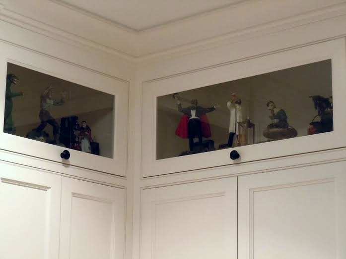 Library upper display cabinets
