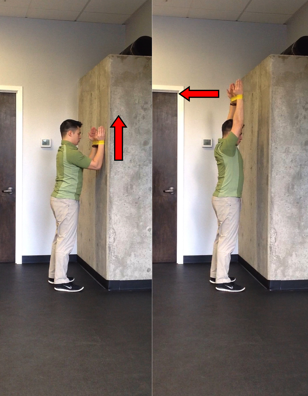 Wall Slide Start and Finish Position