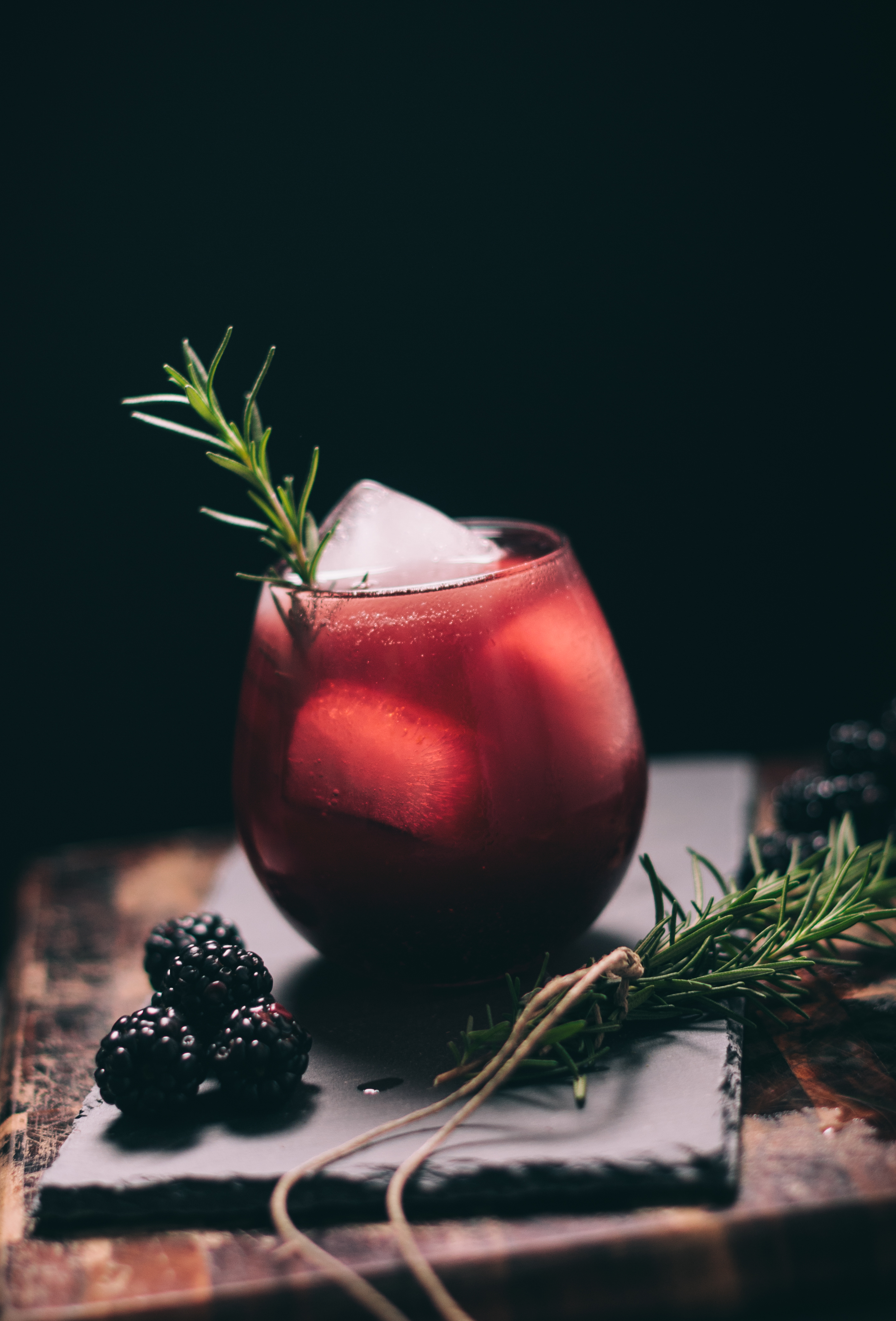 Blackberry and Rosemary Cocktail - Baltimore Food Photography
