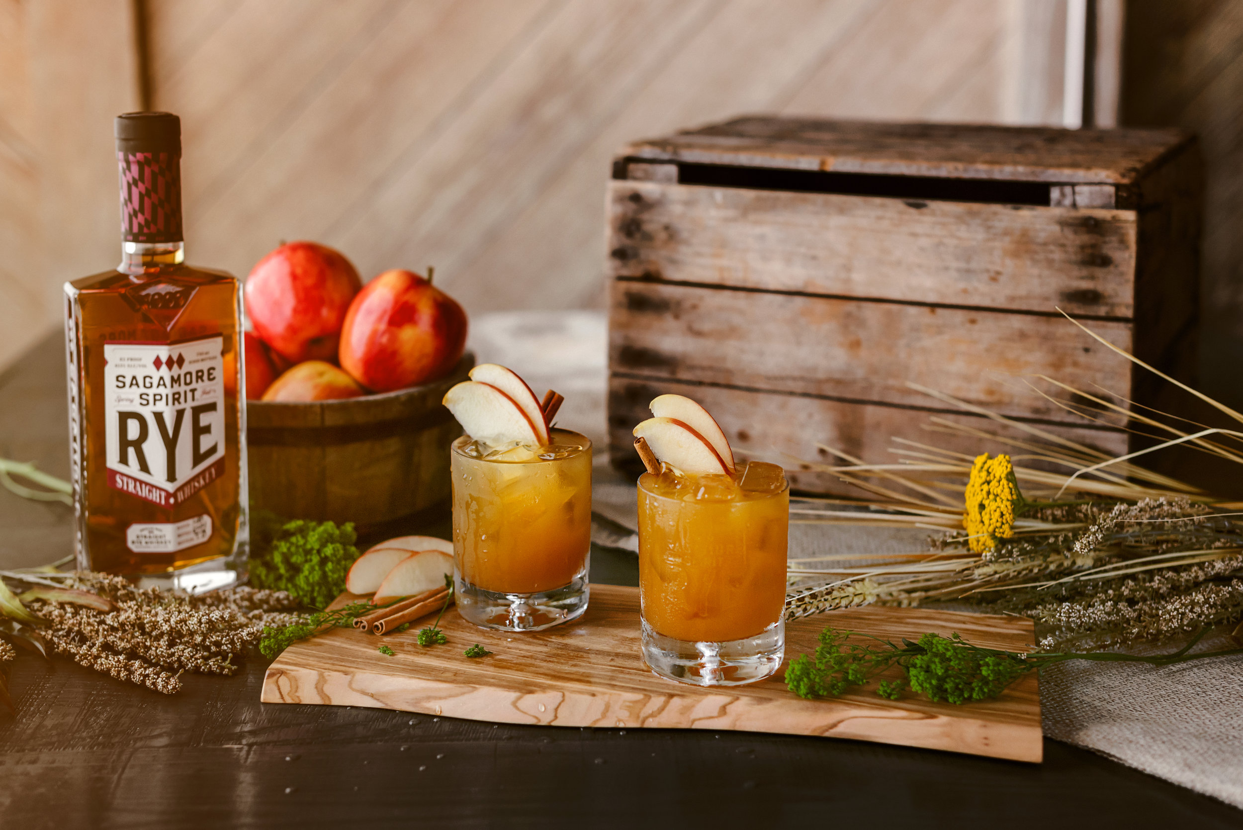 Sagamore Spirit Cider Cocktail - Maryland Product Photography