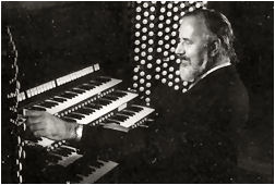Aubrey Thompson-Allen seated at the console of the Newberry Memorial Organ