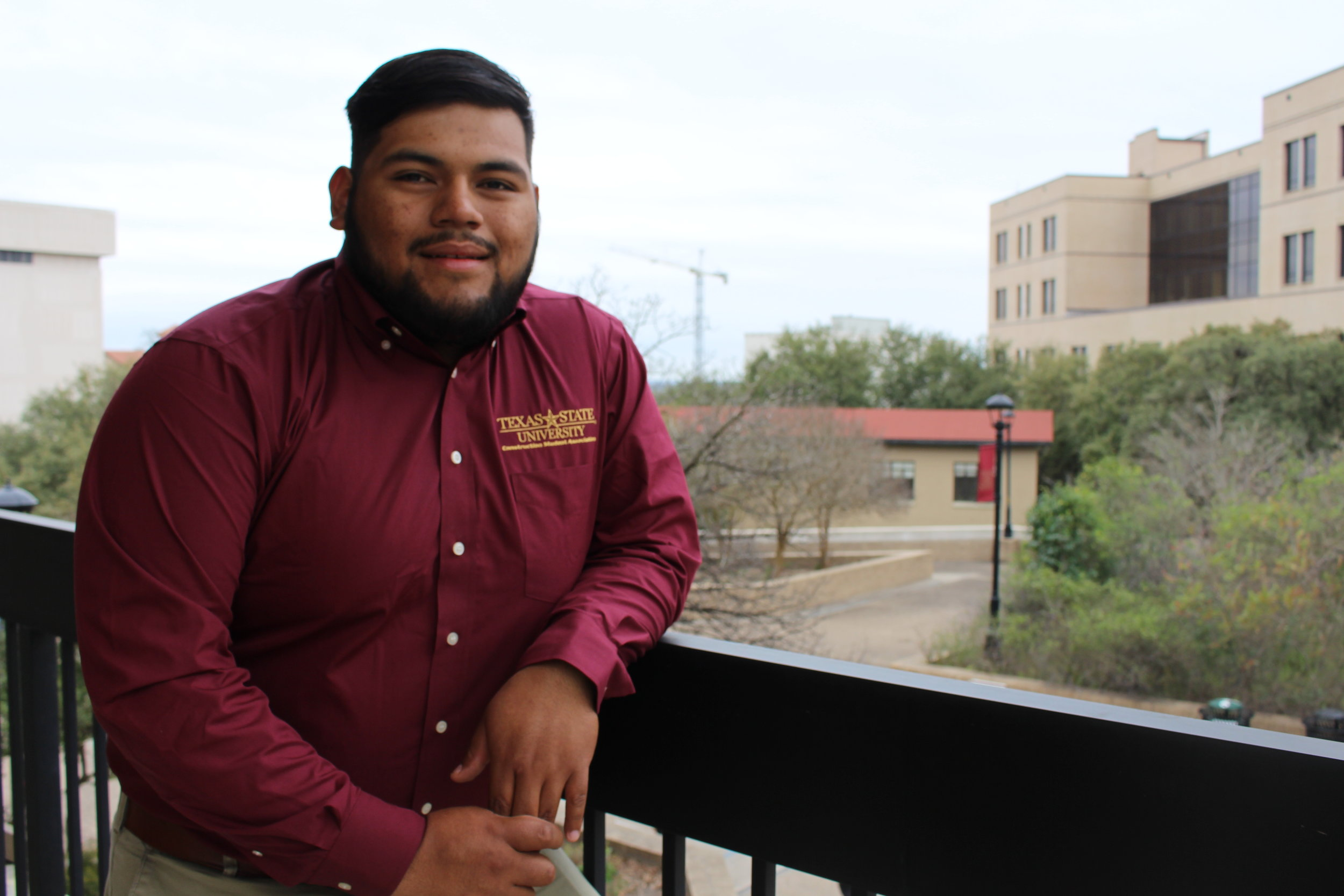 ABC Ambassador-Francisco Reyes - Hometown: Waller, TexasGraduation: May 2020Field of Interest: CommercialPast Experience: Bartlett Cocke Internship & current employee, McCarthy Internship.Tasks: Responsible for maintaining a relationship between Students and ABC. In charge of organizing meetings, events, and volunteering opportunities throughout the semester.Contact: fjr23@txstate.edu