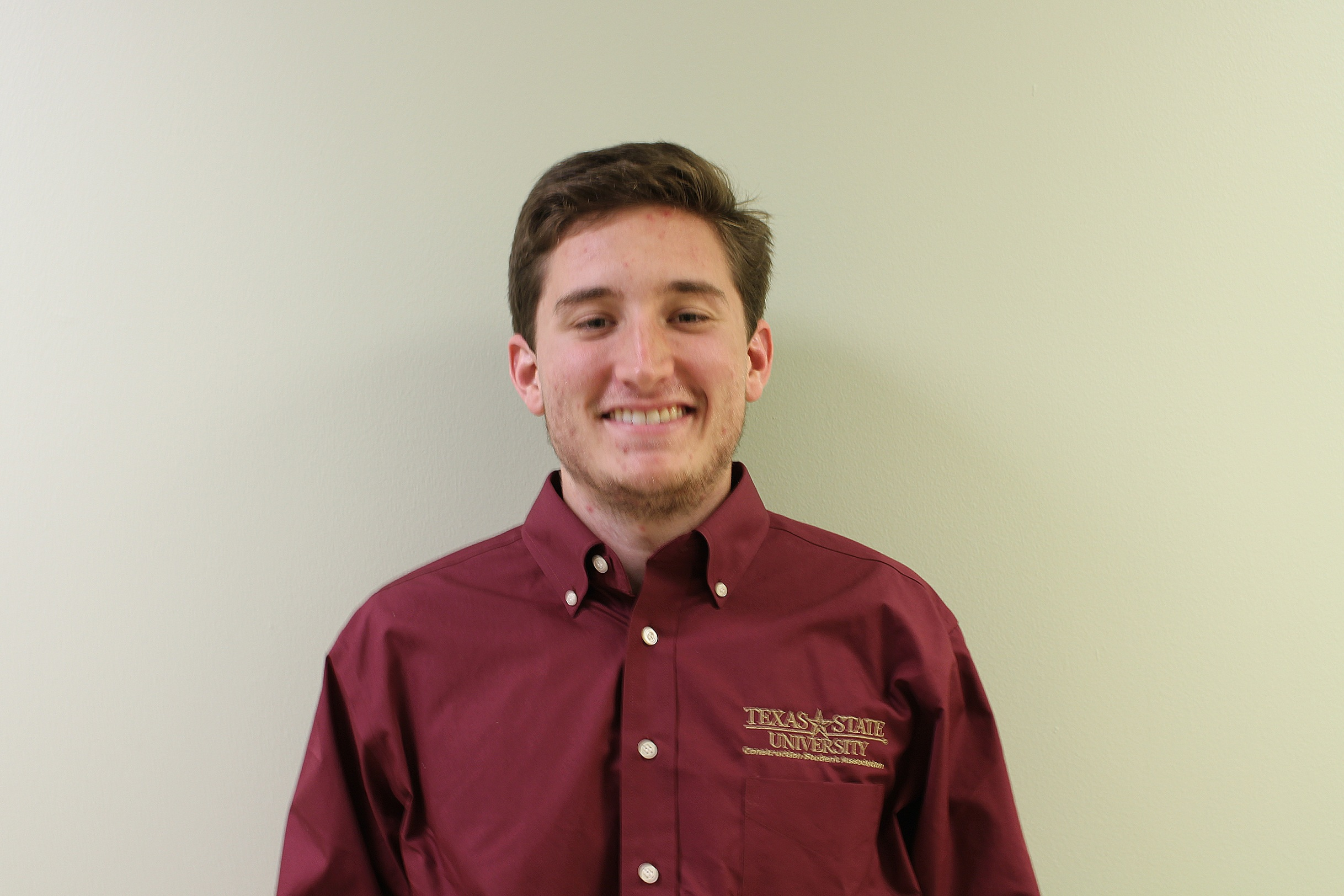 NAHB Ambassador - Ethan Lewis - Hometown: Midland, TexasGraduation: Fall 2020Field of Interest: ResidentialPast Experience: Kirby walls Custom Builders, Kahler Custom Homes, NAHB CompetitionTasks: Responsible for maintaining a relationship between Students and NAHB. In charge of organizing meetings, events, and volunteering opportunities throughout the semester.Contact: ejl61@txstate.edu