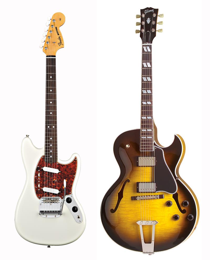 Fender Mustangvs. Gibson ES-175