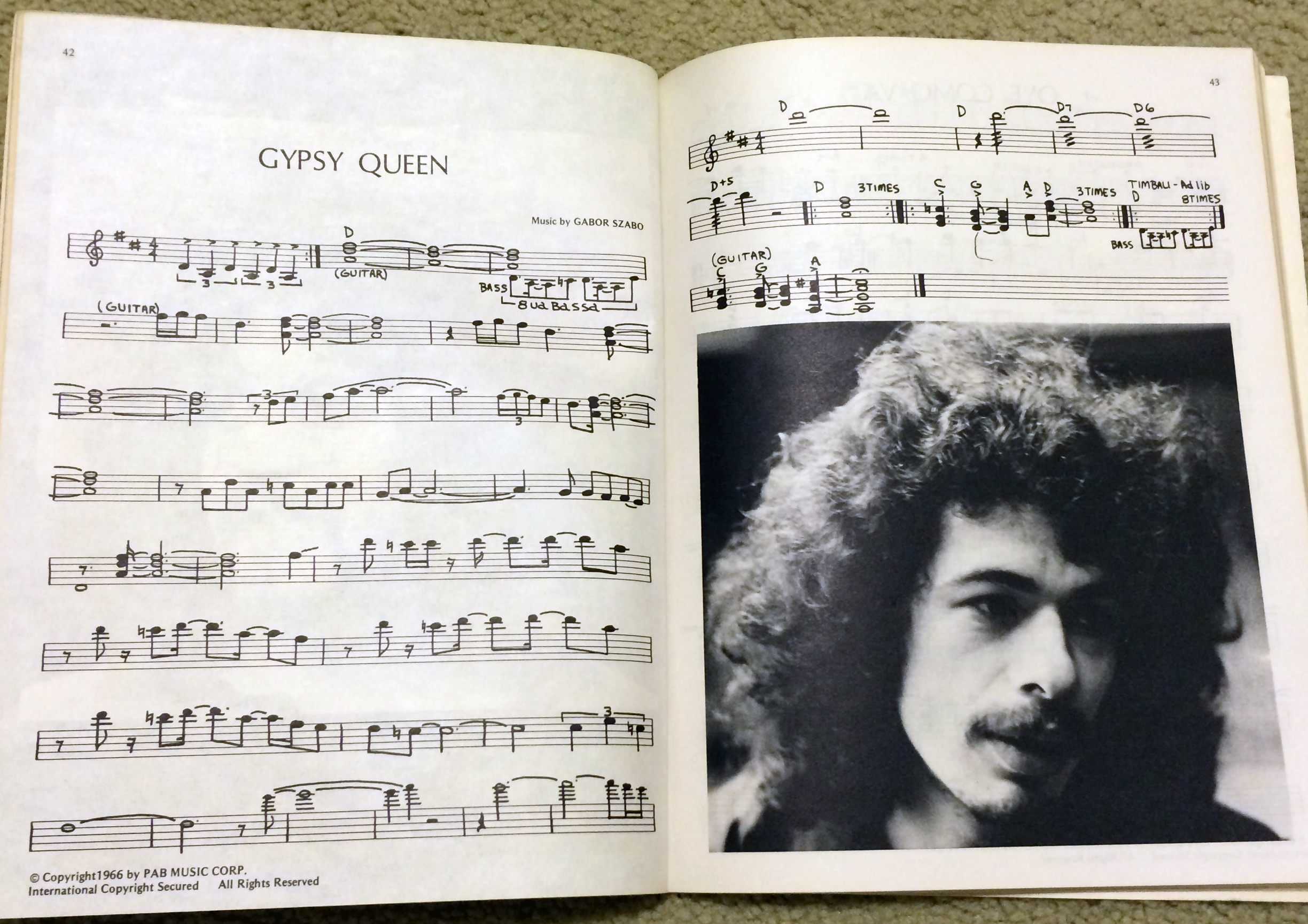 The 1970s era Deluxe Santana Songbook used standard notation.