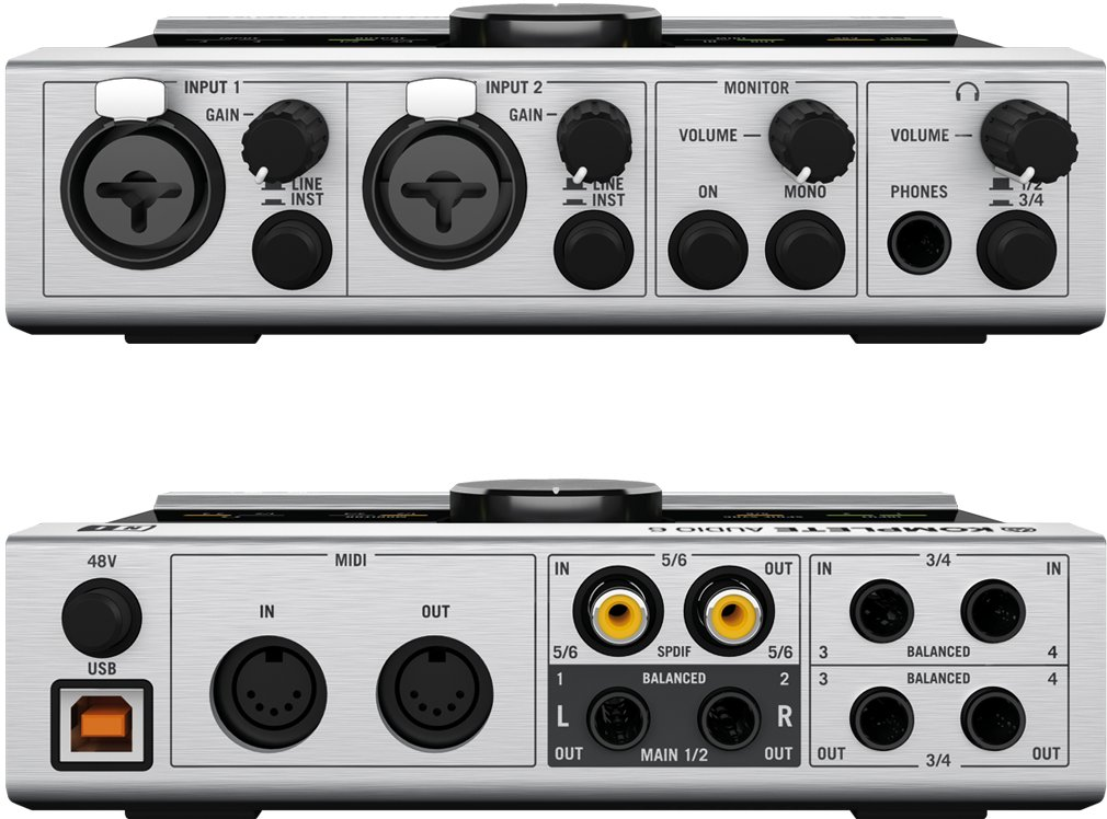 Front and back inputs/outputs.