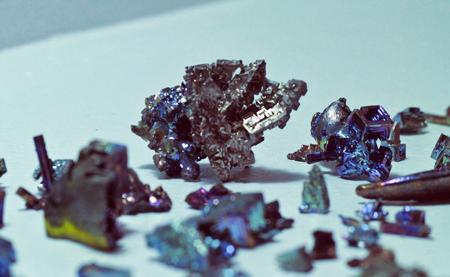 Assorted bismuth pieces