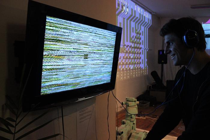 """""""Circuit Bent Tiger TV Painter"""" - Donald Hanson, 2014"""